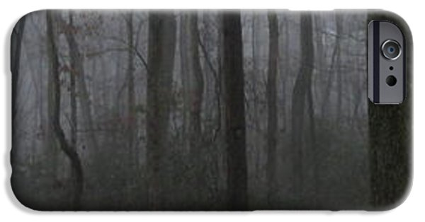 Creepy iPhone Cases - Forest Fog Panorama iPhone Case by Joshua Bales