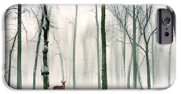 Deer Digital iPhone Cases - Forest Friend iPhone Case by Jessica Jenney