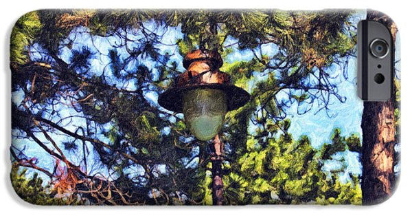 Night Lamp Mixed Media iPhone Cases - Forest Lamp iPhone Case by Milan Karadzic