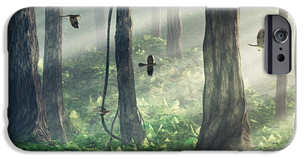 Meadow Digital Art iPhone Cases - Forest Light iPhone Case by Cynthia Decker