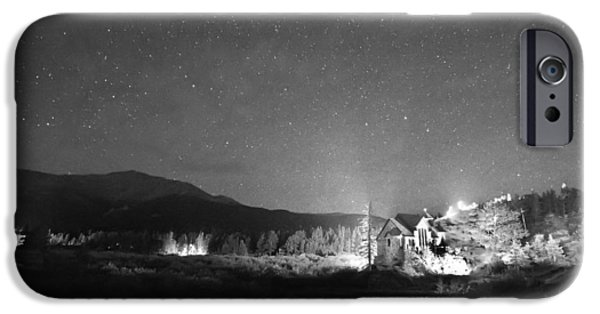 Catherine White Photographs iPhone Cases - Forest of Stars Above The Chapel on the Rock BW iPhone Case by James BO  Insogna