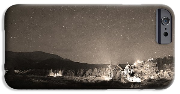 Catherine White Photographs iPhone Cases - Forest of Stars Above The Chapel on the Rock Sepia iPhone Case by James BO  Insogna