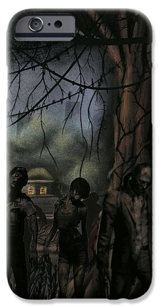 Concept Pastels iPhone Cases - Forest of the Dead iPhone Case by Aaron McElfish