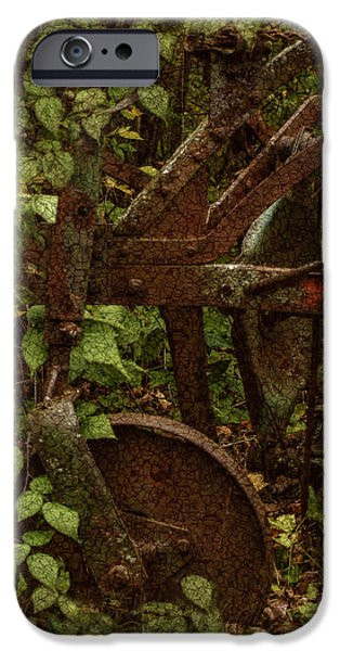 Shed Digital Art iPhone Cases - Forest Reclaimed iPhone Case by Jack Zulli
