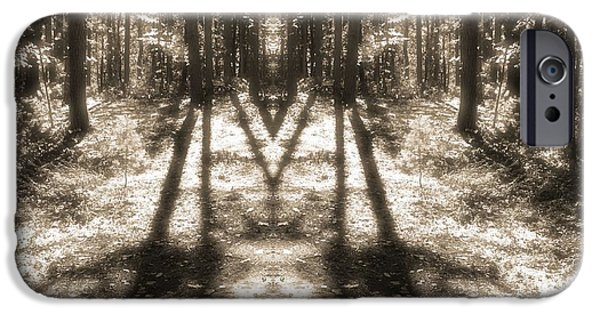 Comfortable Art iPhone Cases - Forest Shadows iPhone Case by Dan Sproul