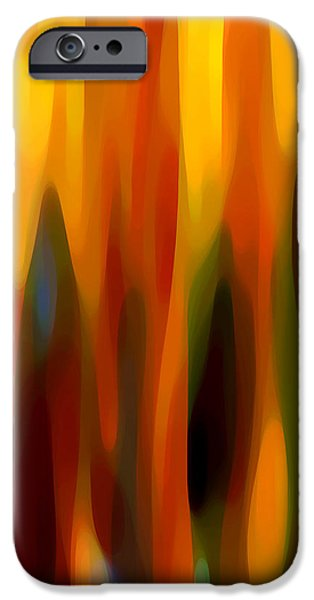 Abstract Movement iPhone Cases - Forest Sunlight Vertical iPhone Case by Amy Vangsgard