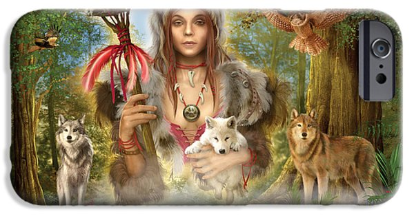 Gypsy Digital iPhone Cases - Forest Wolves iPhone Case by Ciro Marchetti