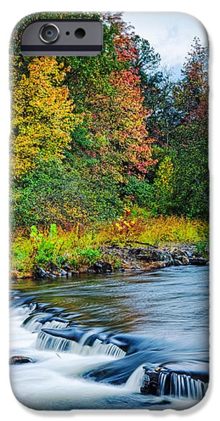 Arkansas iPhone Cases - Foretelling of a Storm Beavers Bend Broken Bow Fall Foliage iPhone Case by Silvio Ligutti