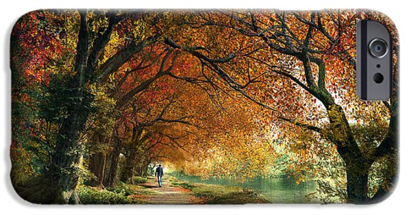 Pathway Digital iPhone Cases - Forever Autumn iPhone Case by Dominic Davison