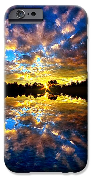 Reflection Lake iPhone Cases - Forever Dreaming iPhone Case by Phil Koch