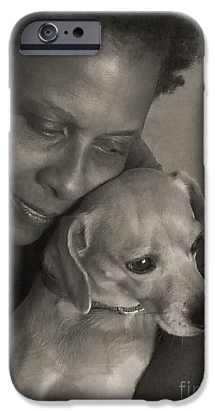 Puppies iPhone Cases - FoREVeR FRiENDS iPhone Case by Angela J Wright