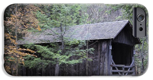 Covered Bridge iPhone Cases - Forge Bridge iPhone Case by Joan Carroll