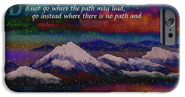 Snowy Night Mixed Media iPhone Cases - Forge Your Own Path and Leave a Trail iPhone Case by Beverly Claire Kaiya