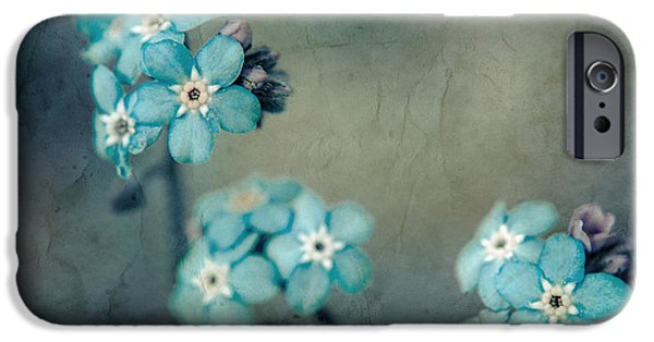 Texture Floral iPhone Cases - Forget Me Not 01 - s22dt06 iPhone Case by Variance Collections