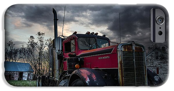 Shed iPhone Cases - Forgotten Big Rig iPhone Case by Aaron J Groen