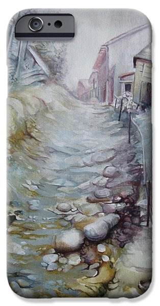 Pathway Mixed Media iPhone Cases - Forgotten by time iPhone Case by Elena Oleniuc