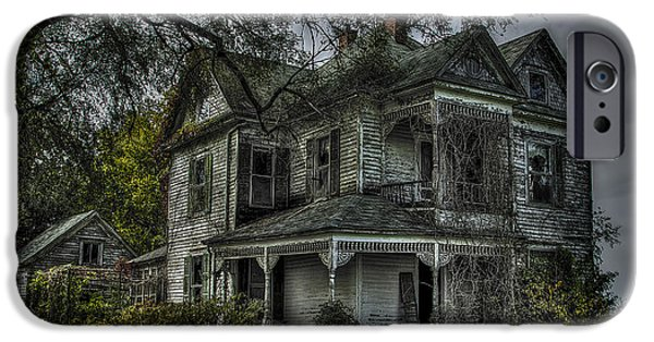 Haunted House iPhone Cases - Forgotten Dreams iPhone Case by Jon Dickson