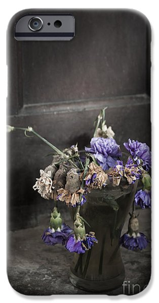 Shed Mixed Media iPhone Cases - Forgotten Flowers iPhone Case by Svetlana Sewell