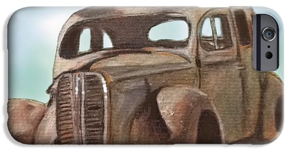 Rust Drawings iPhone Cases - Forgotten iPhone Case by Helen Bowman