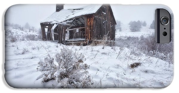 Winter Scene iPhone Cases - Forgotten in Time iPhone Case by Darren  White