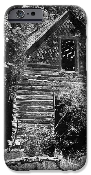 Log Cabin Art iPhone Cases - Forgotten Log Cabin iPhone Case by Cindy Singleton