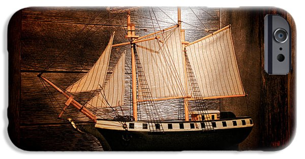 Wooden Ship iPhone Cases - Forgotten Toy iPhone Case by Olivier Le Queinec