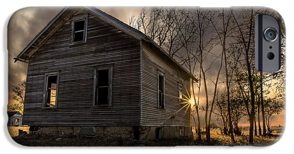 Abandoned House iPhone Cases - Forgotten V iPhone Case by Aaron J Groen