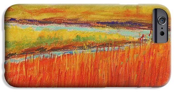 Jmw Pastels iPhone Cases - Fork in the Stream iPhone Case by John  Williams