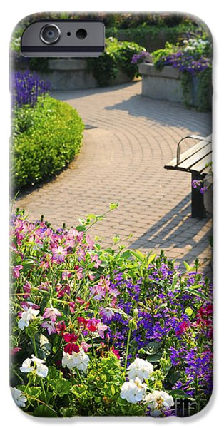 Interlocked iPhone Cases - Formal garden iPhone Case by Elena Elisseeva