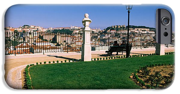 Built Structure iPhone Cases - Formal Garden In A City, Alfama iPhone Case by Panoramic Images