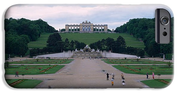 Locations iPhone Cases - Formal Garden In Front Of A Palace iPhone Case by Panoramic Images