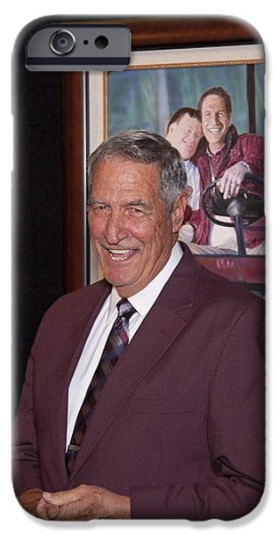 Former Coach of Alabama Gene Stallings iPhone Case by Mountain Dreams