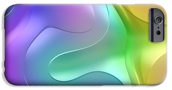 Abstract Forms iPhone Cases - Formes Lascives - 1114 iPhone Case by Variance Collections