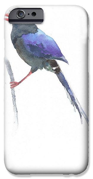 Baby Bird iPhone Cases - Formosa Blue bird iPhone Case by Jialing Chen