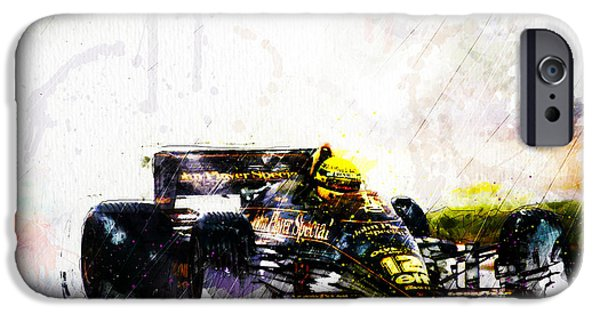 F 1 iPhone Cases - Formula 1 John Player Special iPhone Case by Gary Bodnar