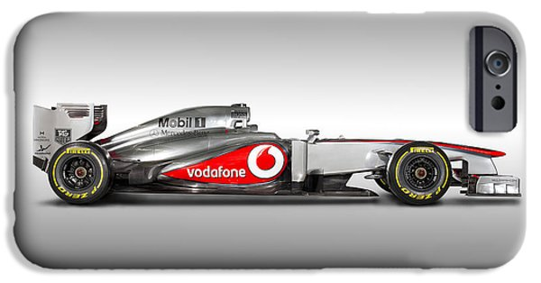 Old Cars iPhone Cases - Formula 1 McLaren MP4-28 2013 iPhone Case by Gianfranco Weiss
