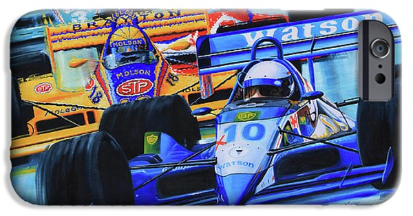 Kids Sports Art iPhone Cases - Formula 1 Race iPhone Case by Hanne Lore Koehler