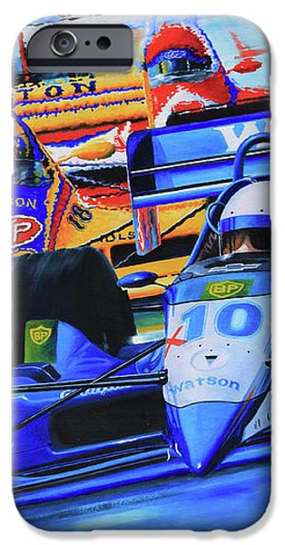Formula 1 Race iPhone Case by Hanne Lore Koehler
