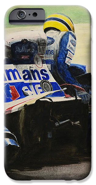 Racing Paintings iPhone Cases - Formula - Alone iPhone Case by Oleg Konin