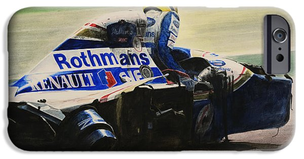 Sports Paintings iPhone Cases - Formula - Alone iPhone Case by Oleg Konin
