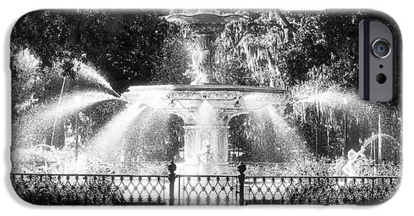 Monotone iPhone Cases - Forsyth Park Fountain iPhone Case by John Rizzuto