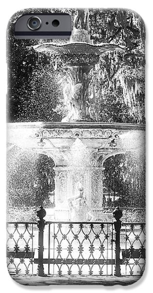 Forsyth Park Fountain iPhone Case by John Rizzuto