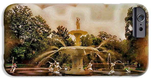 Historic Site iPhone Cases - Forsyth Park Fountain iPhone Case by Kathleen Struckle