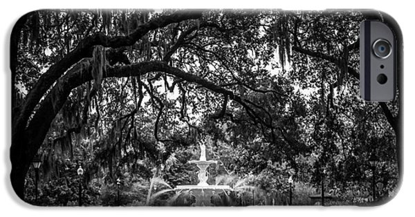 Historical Pictures iPhone Cases - Forsyth Park iPhone Case by Perry Webster