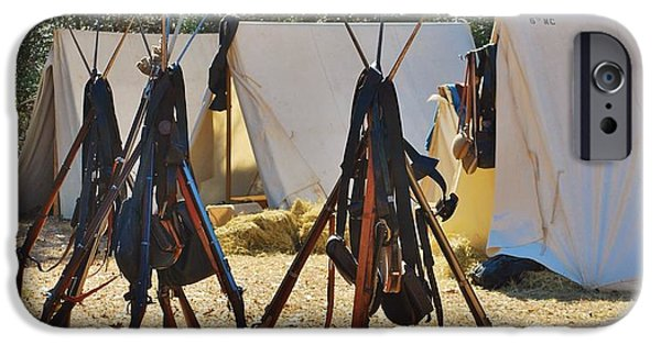Historical Re-enactments iPhone Cases - Fort Anderson Civil War Re Enactment 3 iPhone Case by Jocelyn Stephenson