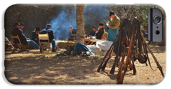 Historical Re-enactments iPhone Cases - Fort Anderson Civil War Re Enactment 4 iPhone Case by Jocelyn Stephenson