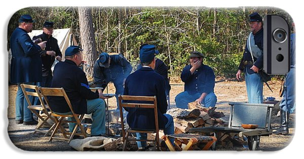 Historical Re-enactments iPhone Cases - Fort Anderson Civil War Re Enactment 5 iPhone Case by Jocelyn Stephenson