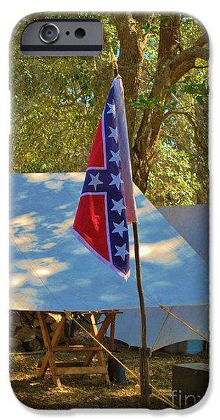 Confederate Hospital iPhone Cases - Confederate Encampment At Fort Anderson  iPhone Case by Jocelyn Stephenson
