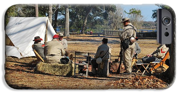 Confederate Hospital iPhone Cases - Confederate Encampment At Fort Anderson 3 iPhone Case by Jocelyn Stephenson