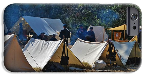 Historical Re-enactments iPhone Cases - Fort Anderson Civil War Re Enactment 1 iPhone Case by Jocelyn Stephenson